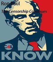 Ron Paul - Cenzura pokračuje